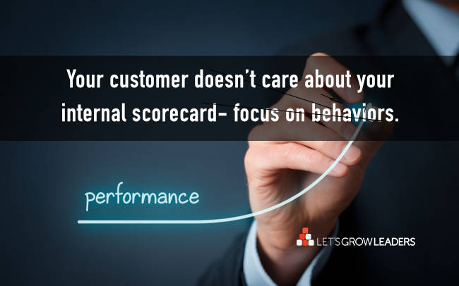 Your customer doesn't care about your internal scorecard
