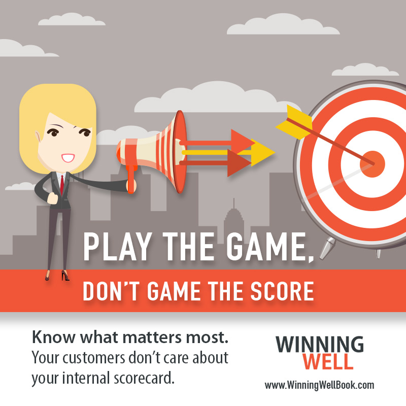Employee engagement - play the game don't game the score