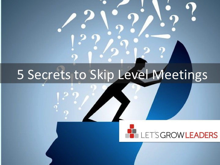 5 Secrets To Great Skip Level Meetings
