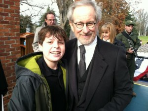 My film maker nephew, and LGL tribe member, Jared Herr with Steven Spielberg.
