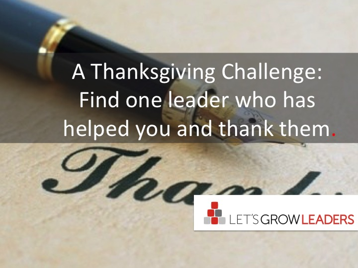 A thanksgiving challenge