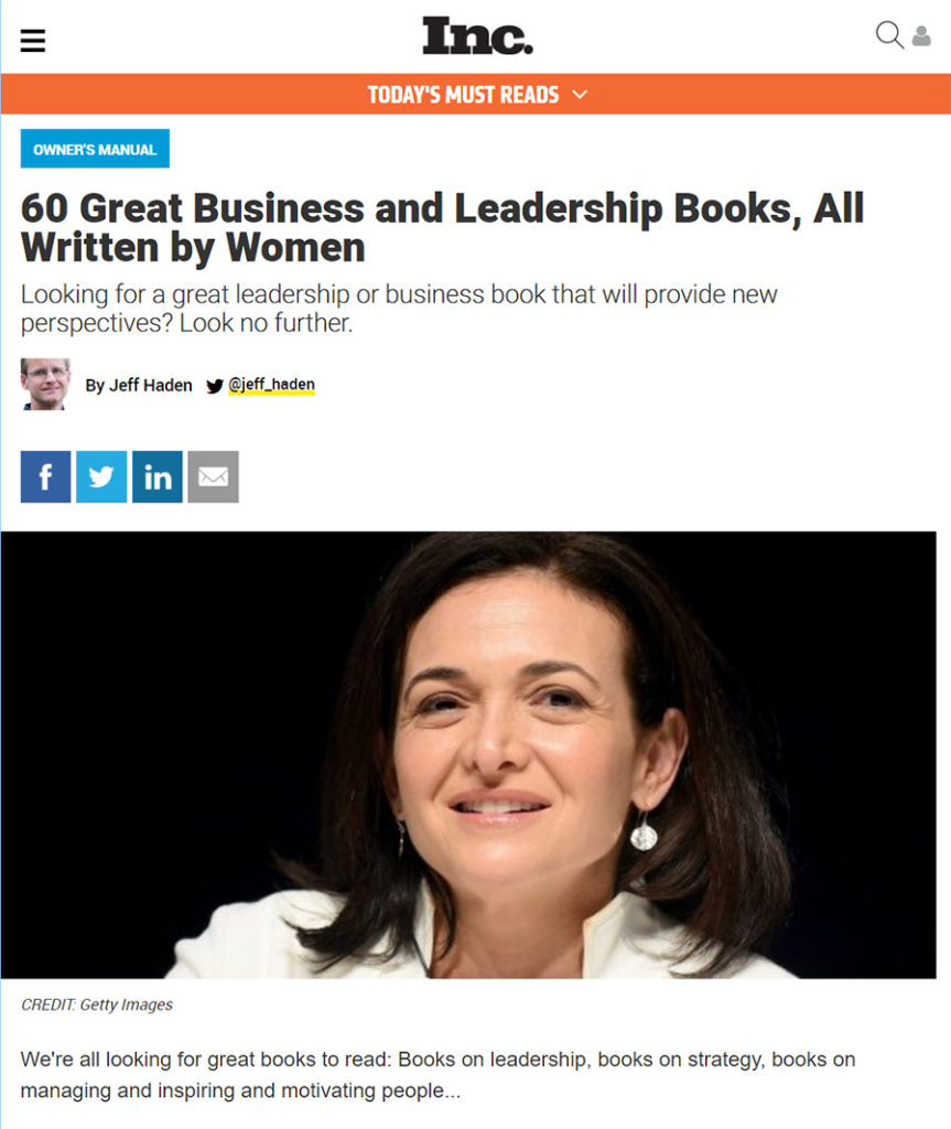 Great business and leqdership books written by women