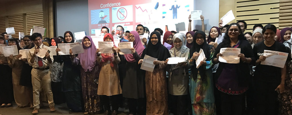 Participants pose their Winning Well experience
