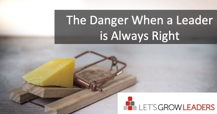 danger when leader is always right