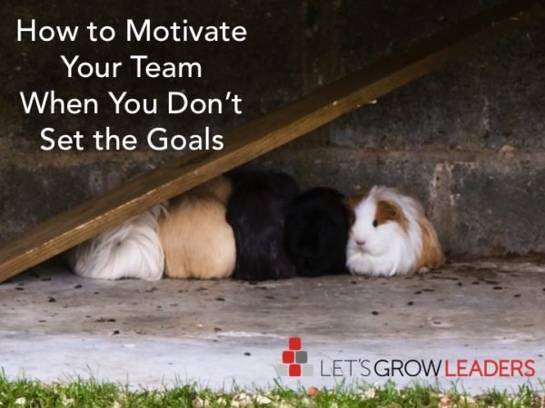 How to Motivate Your Team When You Don't Set the Goals