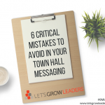 mistakes to avoid in your town hall meeting