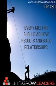 Let's Grow Leaders on Meetings