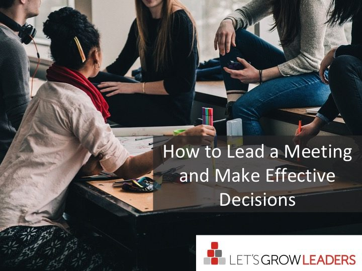 how to lead a meeting make effective decisions