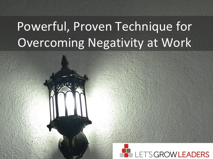 Overcoming Negativity at Work