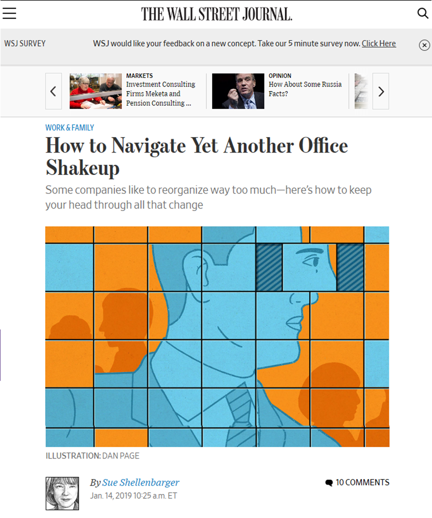 NY times on office shake up