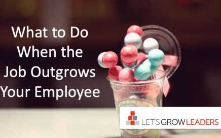 what to do when job outgrows employee