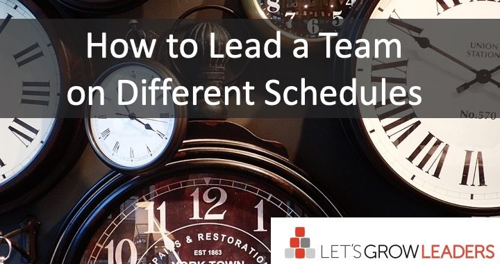 How to Lead a Team on Different Schedules
