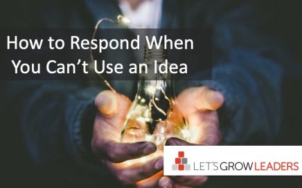how to respond when you can't use an idea