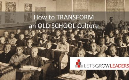 how to transform an old school culture