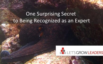 one surprising secret to being recognized as an expert