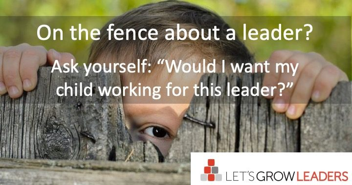 most important question to ask about a leader