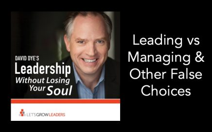 Leading vs Managing False Choices
