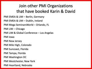 PMI Keynote Speakers Karin Hurt and David Dye