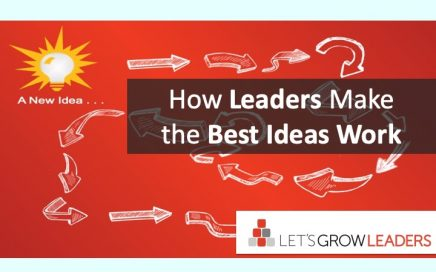 How leaders make the best ideas work