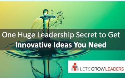 Get Innovative Leadership Ideas You Need