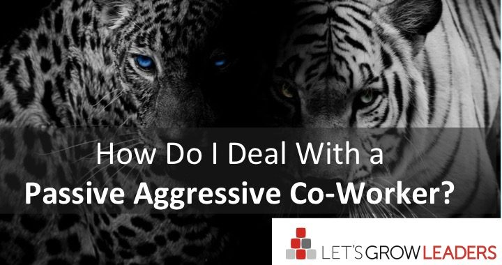 how to deal with a passive aggressive co-worker