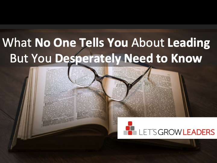 what no one tells you about leading