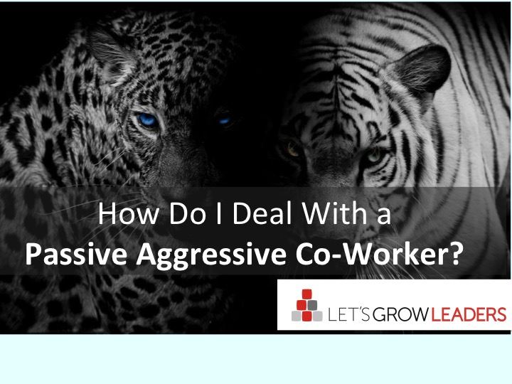 How Do I Deal With a Passive Aggressive Co-worker?