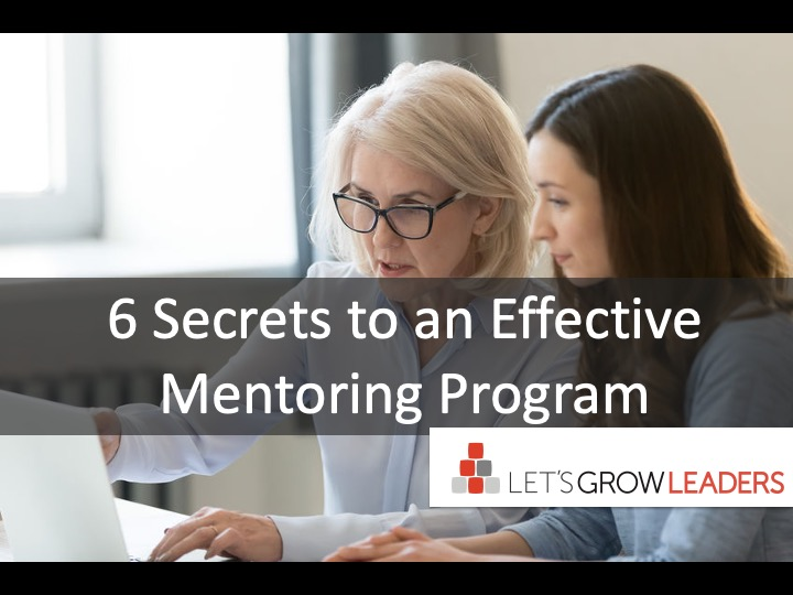 6 Secrets to a Successful Mentoring Program