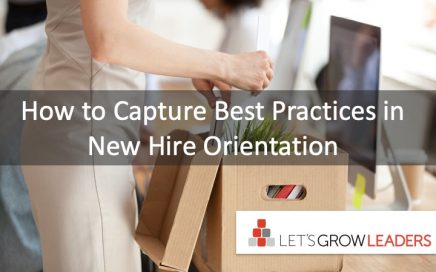 how to capture best practices in new hire orientation