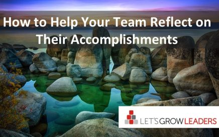 how to help your team reflect on their accomplishments