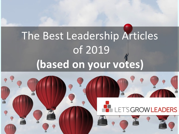 The Best Leadership Articles of 2019 (based on your votes)