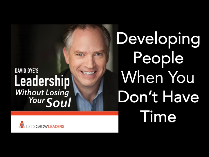 developing people when you dont have time