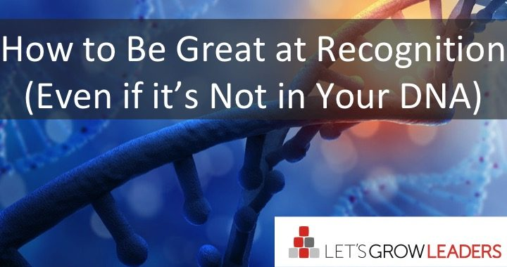 how to be great at recognition