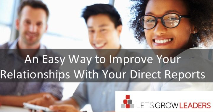 build better direct report relationships