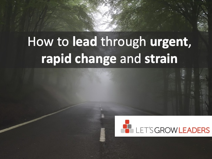 How To Lead In The Midst Of Urgent, Rapid Change And Strain