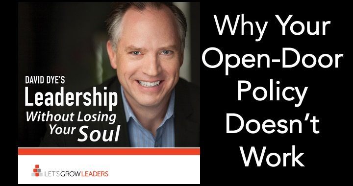 Why your open door policy doesn't work and what to do instead