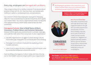 Courageous Cultures Overview