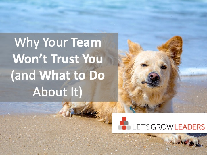 Why Your Team Won't Trust You – and What to Do About It
