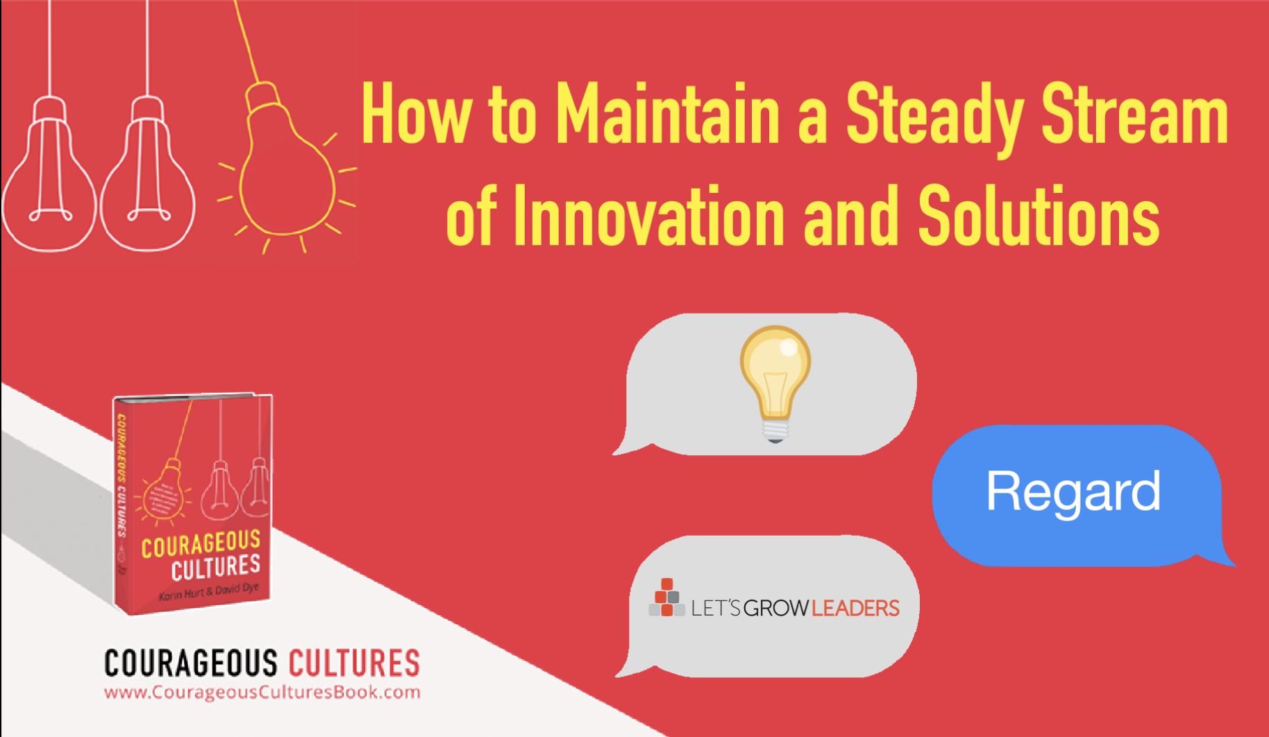 Respond with regard for innovation and solutions