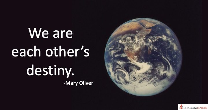 courageous cultures - we are each other's destiny