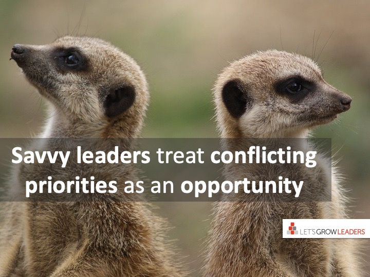 What Leaders Do with a Clash in Priorities