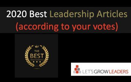 Best leadership articles of 2020