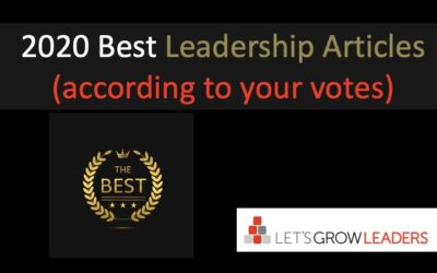 The Best Leadership Articles of 2020 (and more … based on your votes)