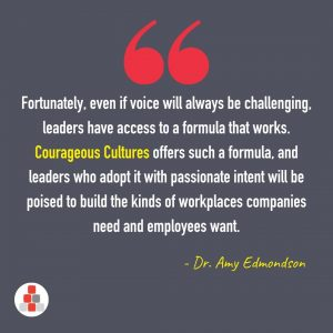 Amy Edmondson Quote - psychological safety and courage