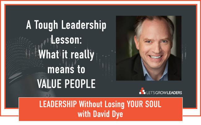 A Tough Leadership Lesson