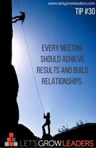 Let's Grow Leaders on Meetings