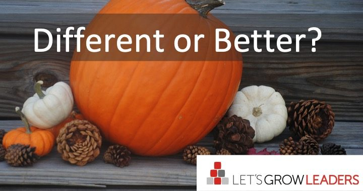 Different or Better?