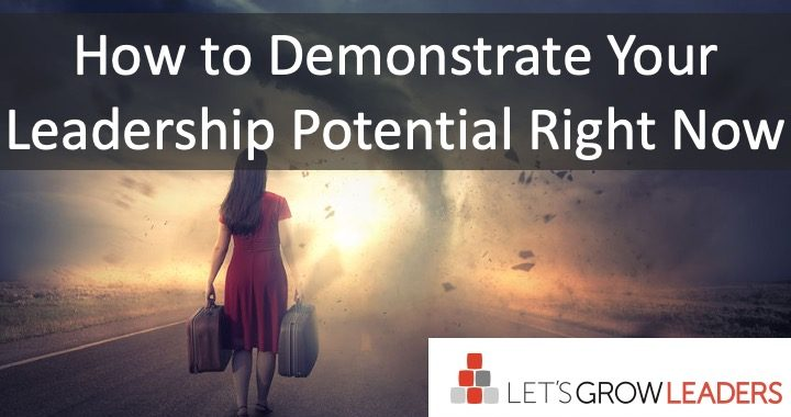 How to Demonstrate Your Leadership Potential Now