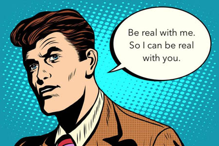 add credibility - be real in your virtual one-on-ones