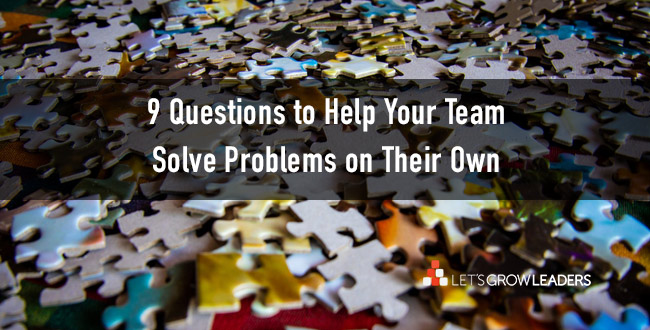 questions to help your team solve problems on their own